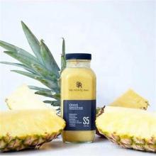 Manufacturer Customized Glass Beverage Bottle with Lid Labeling Design
