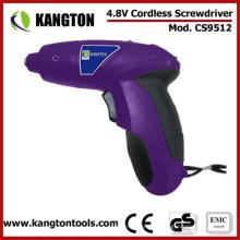 Kit de destornilladores eléctricos inalámbricos recargables de 4.8V (KTP-CS9512)