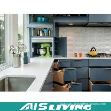 Mobília dos armários de cozinha do canto do estilo de Europa com punho (AIS-K334)