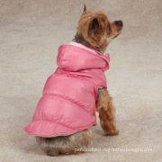 Zack & Zoey Snow Lodge Dog Vest Pink / Custom Dog Hoodies For Winter Apparel