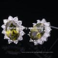 olive runde kleine Ohrringe für süßes Mädchen
