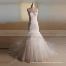 Atractivo Slim Fit Delicadeza Sequins Lace Vestido de Novia Vividly Fair Fishtail