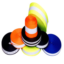 fluorescent color high visibility reflective webbing for garments