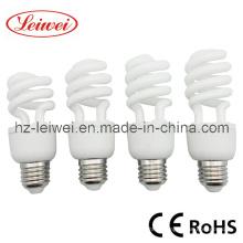 T3 7W ~ 15W spirale moitié Energy Saving Lamp, lumière