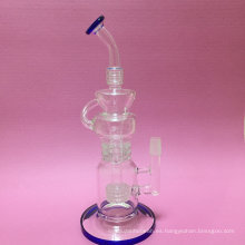 Venta al por mayor del aceite DAB Rig Recyclers Glass Smoking Pipe