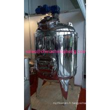 Réservoir d'agitation de chauffage en acier inoxydable