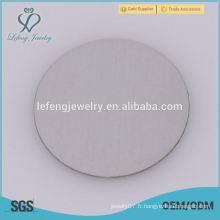 Plaques flottantes en acier inoxydable 316l en acier inoxydable 22 mm Silver Cute Baby pour blocs de verre flottant de 30 mm