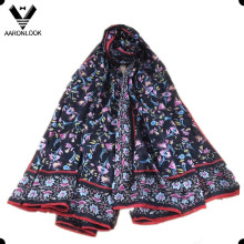 Lady′s Wholesale Spring Fashion Colorful Small Flower Silk Scarf