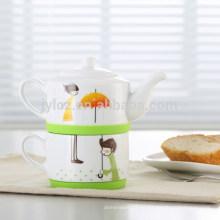 прямая конструкция керамическая чай для одного оптом с силиконовый круг