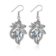 Brincos de moda clássica prata casamento festa de casamento