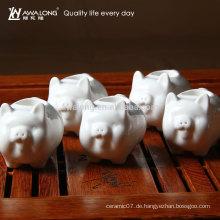 Heißer Verkauf neuer Entwurf keramischer piggy Zahnstocherkasten netter Porket Porzellan-Zahnstochertopf einzigartiger Entwurf