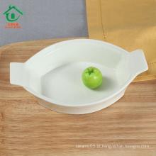Multifuncionais novos produtos cerâmica tigelas porcelana tigelas de sobremesa branco