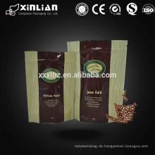 Flache Unterseite Zwickelbeutel mit Ventil für Kaffeeverpackung