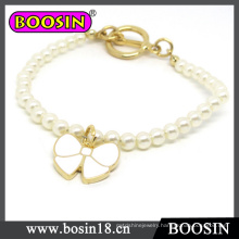 Kids Jewelry Sweet White Bowknot Pearl Bracelet