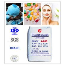 99% Pureza Anatase saludable Dióxido de titanio para alimentos y cosméticos (A200)