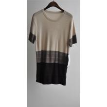 2016new 100% algodón de manga corta mujer suéter
