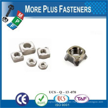 Made in Taiwan Stainless Steel Brass Aluminium Silicone Bronze Square Nuts DIN 557