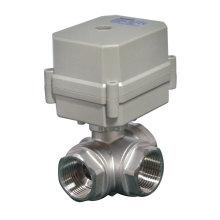 Válvula de agua de acero inoxidable Stailsess de 3 vías con sistema automático de cierre de agua