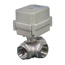 IP67 3 Way Electric Stailess Steel Water Valve with Automatic Water Shut off System
