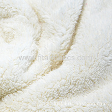 100% Polyester Fake Lamb Fur Fabric/berber Fleece Or Polyester Sherpa