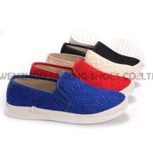 Zapatos de mujer ocio PU zapatos con suela de cuerda Snc-55003