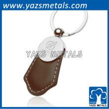 Porte-clés en cuir en métal personnalisé