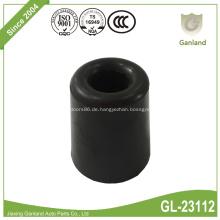 Schwarzer konischer Türstoßfänger aus schwarzem Gummi