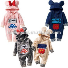 Aliexpress vente chaude bébé barboteuse en gros à manches longues bébé hiver barboteuse avec prix usine