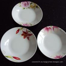 al por mayor plato de cena de cerámica, plato chino, plato de sopa