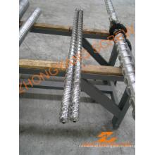 Винт и цилиндр машины для выдувания биметаллической пленки из переработанного полиэтилена высокой плотности LDPE