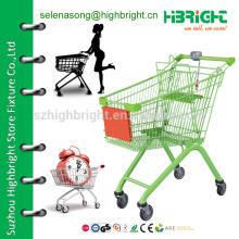 Пластиковая тележка для покупок, корзина для покупок с монетным замком