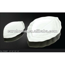 Hotel supplies porcelain banana leaf plates P0467