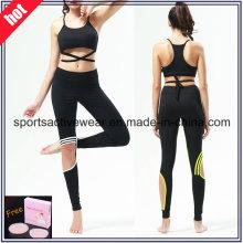 Custom Made alta calidad empalmados mujeres fitness desgaste yoga pantalones