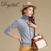 Chinese Gold Cashmere Products Supplier High Neck Sweater Oem For Women