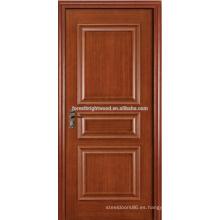 Moldura levantada Chapa pintada 3 Panel Swing Puertas interiores clásicas con Manija