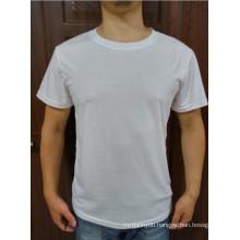 White Soft Cotton Blend Summer Round Neck Hot Wholesale Fashion Men T-Shirt