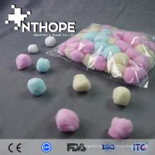 materiales médicos desechables del hospital bolas rosadas de la algodón