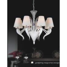 Hotel Lampshade White Glass Pendant Light (81075-8)
