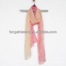 весна и лето красный шарф полька дотс