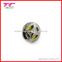 Popular Gun Metal Button for High End Brand Denim Jeans Wear