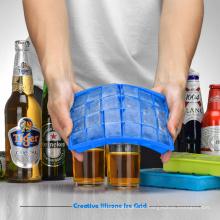 Populärer nützlicher quadratischer Form-Nahrungsmittelgrad-Silikon-Küchen-Werkzeug-Eis-Würfel-Behälter