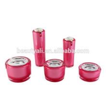 Bouteilles et brioches cosmétiques acryliques haut de gamme, bocaux cosmétiques écologiques et écologiques, bocaux en plastique acrylique pour produits cosmétiques