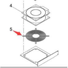 Protector de ventilador KXFP007AA00 para la impresora de pantalla SP60P-M