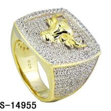 Хип-хоп ювелирные изделия стерлингового серебра 925 кольцо с бриллиантом