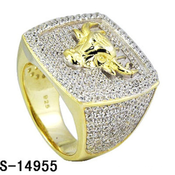 Hip Hop Jewelry 925 Sterling Silver Ring with Diamond