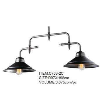 Good Quality Black Metal Decorative Home Pendant Lamp (C703-2C)