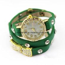 Мода Девушки Кожаный Ремешок Браслет Наручные Часы