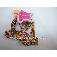 cordón elástico redondo personalizado para la venda del pelo