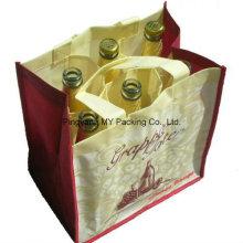 Konkurrenzfähiger Preis-kundenspezifischer Druck PP-nichtgewebte Tasche für Wein