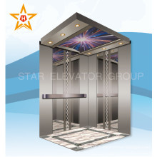 Miroir Etching Stainless Steel Passenger Elevator